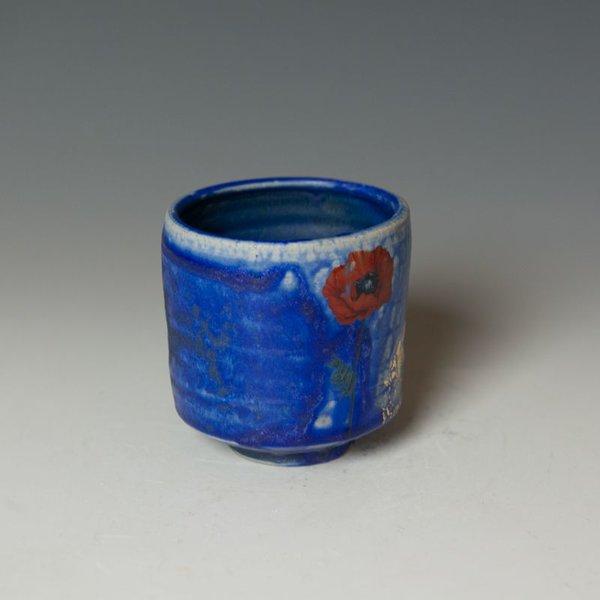 "Justin Rothshank Justin Rothshank, Tea Cup, wheel thrown, glazes, decals, 3.25 x 3.25"""