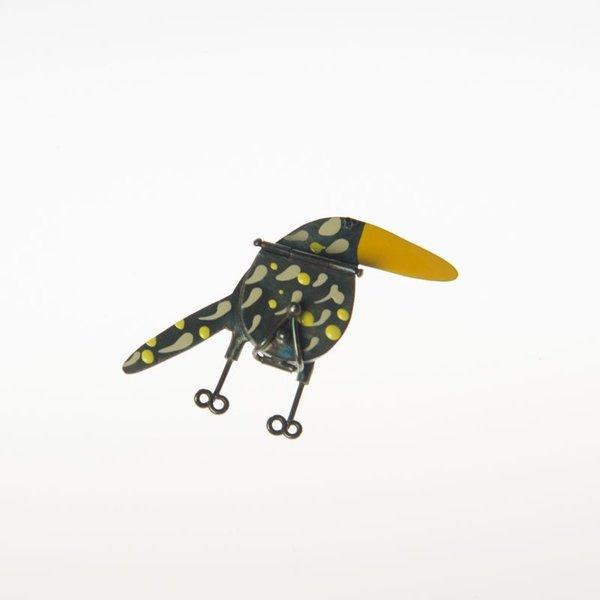 Gabrielle Gould Gabrielle Gould, Grazer Pin with Yellow Beak, ss, enamel