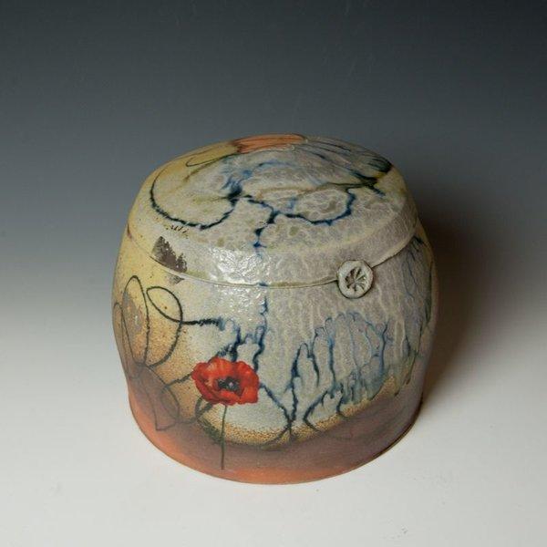 "Justin Rothshank Justin Rothshank, Lidded Jar, 9 x 10"" dia"