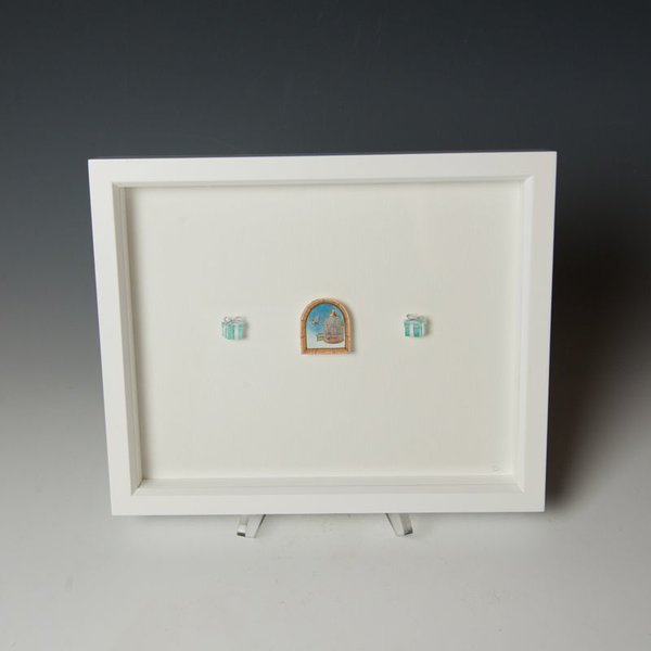 "Brooke Rothshank Brooke Rothshank, Forgiveness, watercolor, paper, frame 9x11"""