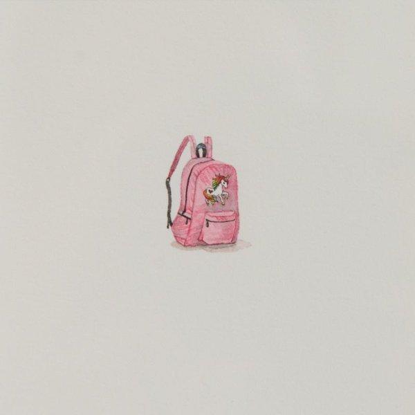 "Brooke Rothshank Brooke Rothshank, Unicorn 2, watercolor, paper, frame  9x9"""