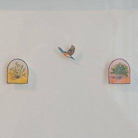"""Brooke Rothshank Brooke Rothshank, Gratitude, watercolor, paper, frame 9x11"""""""
