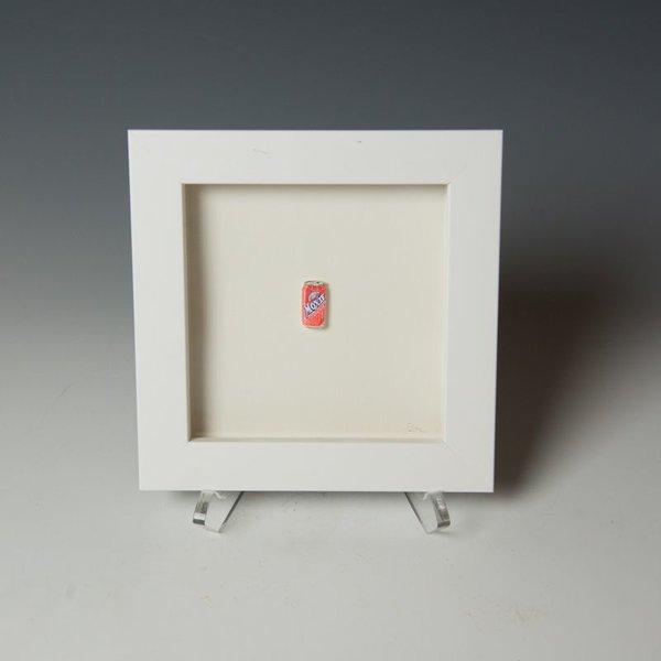 """Brooke Rothshank Brooke Rothshank, Moxie, watercolor, paper, frame, 6.25 x 6.25"""""""