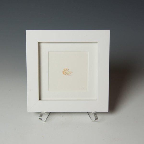 """Brooke Rothshank Brooke Rothshank, Popcorn, watercolor, paper, frame 6.25 x 6.25"""""""