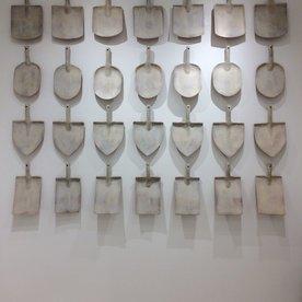 "Joe Pintz Joe Pintz, Shovel Plate, handbuilt earthenware, 16 x 8 x 3.25"""