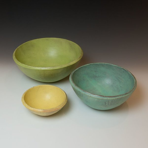 Joe Pintz Joe Pintz, Nesting Bowl Set, handbuilt earthenware,