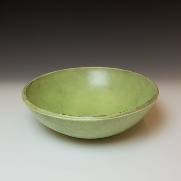 "Joe Pintz Joe Pintz, Large Salad Bowl, handbuilt earthenware, 4 x 12"" dia"