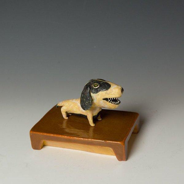 """Wesley Anderegg Wesley Anderegg, Dog, earthenware, glaze,  4.25 x 5.75 x 4"""""""