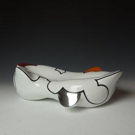 "Sam Chung Sam Chung, Cloud Bowl, porcelain, glaze, 4.5 x 18 x 10.5"""