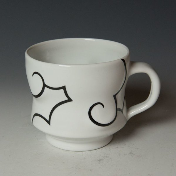 "Sam Chung Sam Chung, Cloud Mug, porcelain, glaze, 3.75 x 5 x 3.75"""