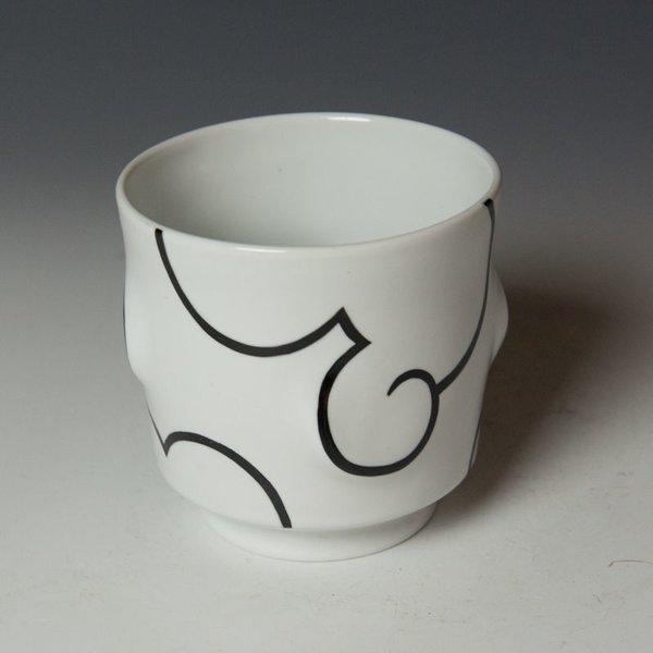 "Sam Chung Sam Chung, Cloud Yunomis, porcelain, glaze, 3.75 x 3.75 x 3.75"""