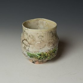 """Ted Saupe Ted Saupe,  Yunomi, porcelain, black stain, glaze, 4 x 3.75"""" dia"""