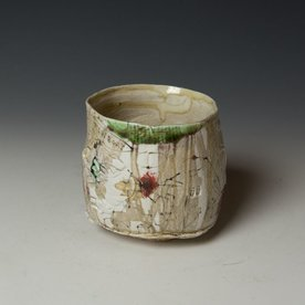 """Ted Saupe Ted Saupe,  Yunomi, porcelain, black stain, glaze, 4 x 4"""" dia"""