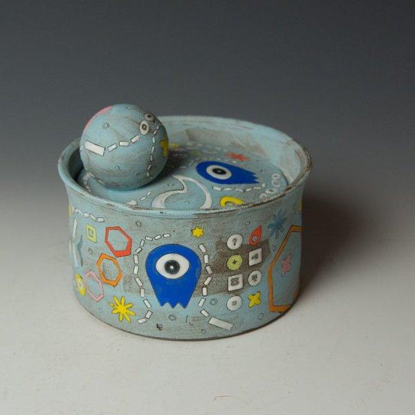 Masa Sasaki Masa Sasaki, One Eyed Alien Jar, chocolate clay, glaze