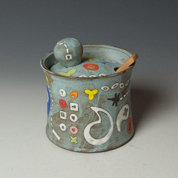 Masa Sasaki Masa Sasaki, One Eyed Alien Sugar Pot, chocolate clay, glaze