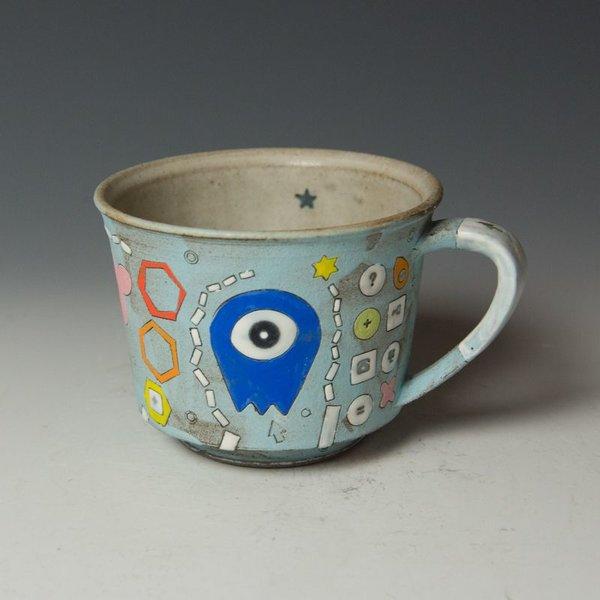 """Masa Sasaki Masa Sasaki, Alien Mug, chocolate clay, glaze, 3.25 x 5 x 4"""""""