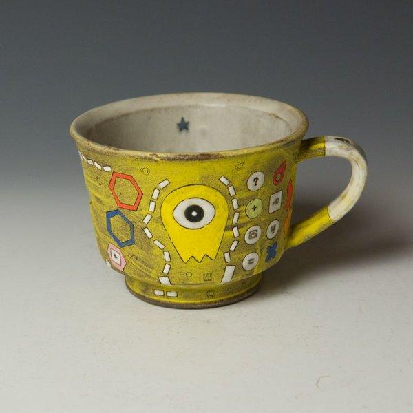 """Masa Sasaki Masa Sasaki, Alien Mug, chocolate clay, glaze, 3.5 x 5.5 x 4.5"""""""