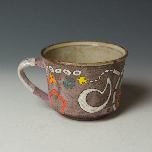 """Masa Sasaki Masa Sasaki, Mug w/Deer, chocolate clay, glaze, 3 x 5 x 4"""""""