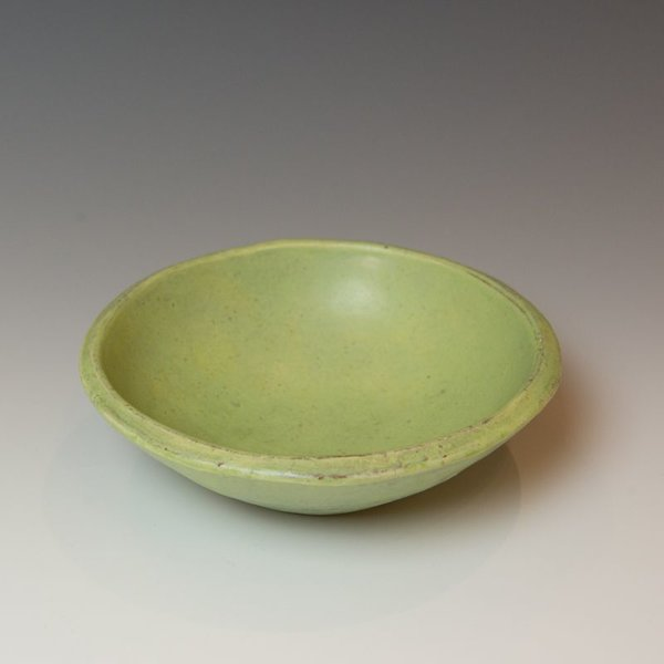 "Poolside Joe Pintz, Small Round Bowl, handbuilt earthenware, 2.25 x 7"" dia."