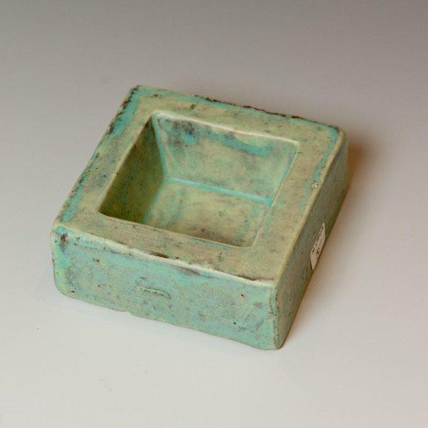 """Joe Pintz Joe Pintz, Block Salt Cellar-Blue, handbuilt earthenware, 1.25 x 3 x 3"""""""