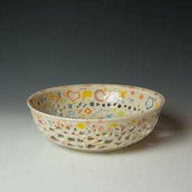 """Masa Sasaki Masa Sasaki, Fruit Bowl, porcelain, glaze, 3.75 x 12"""" dia"""