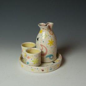 """Masa Sasaki Masa Sasaki, Princess Sake Set, porcelain, glaze, 5.5 x 6"""""""