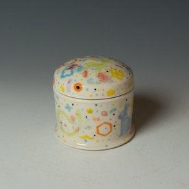 "Masa Sasaki Masa Sasaki, Tea Keeper, porcelain, glaze, 3.75 x 3.75"" dia"