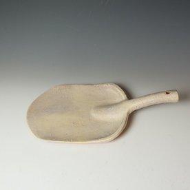 "Joe Pintz Joe Pintz, Shovel Plate, handbuilt earthenware, 16.25 x 8.75 x 3.75"""