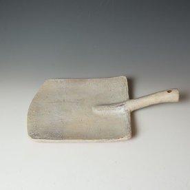 "Joe Pintz Joe Pintz, Shovel Plate, handbuilt earthenware, 15.75 x 9.75 3"""