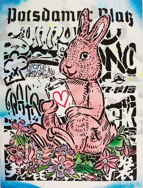 Aiko Aiko Bunny with Love Print