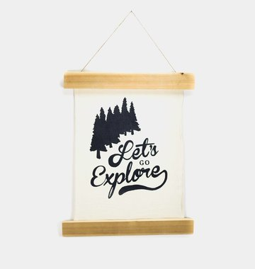 Shop Good: Handmade Let's Go Explore Wall Hanging