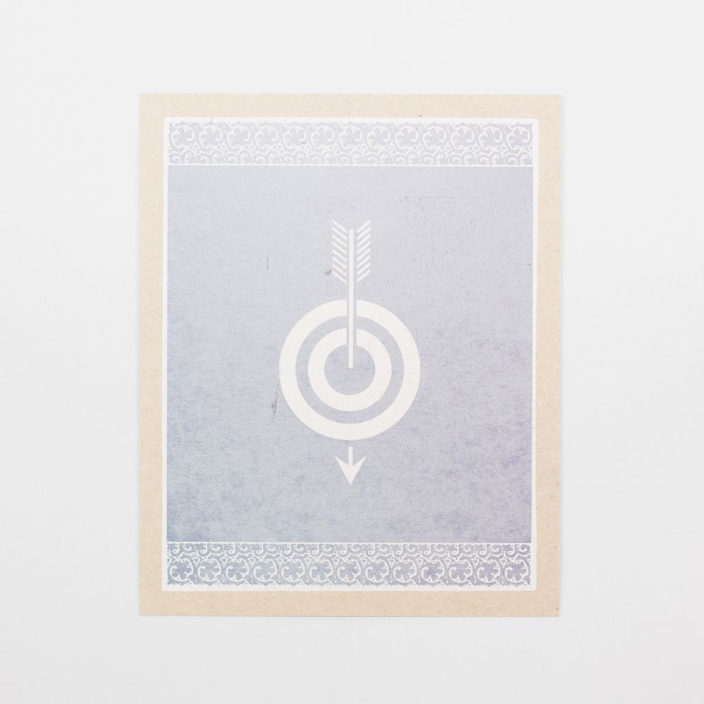 Hammerpress Bullseye Art Print, Small