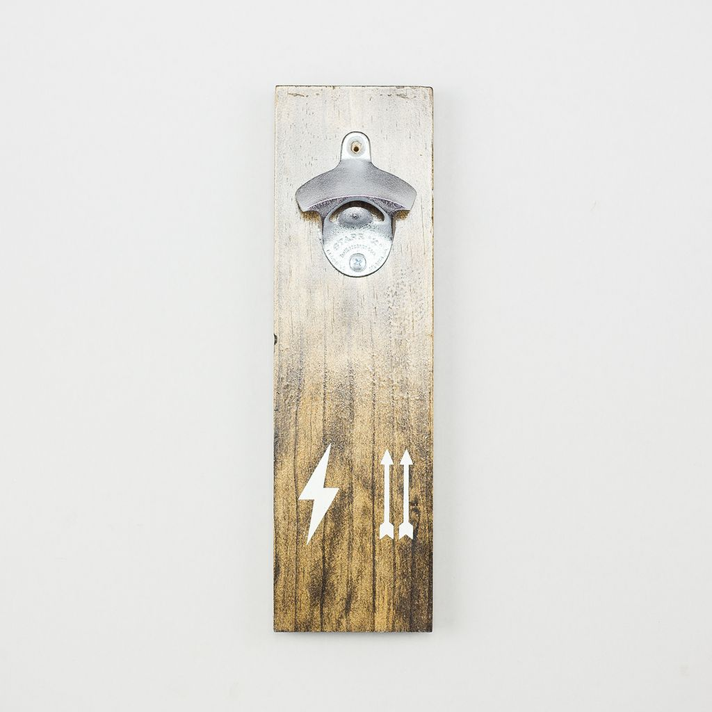Shop Good: Handmade Thunder Up Bottle Opener - Dark Walnut