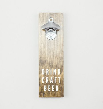 Shop Good: Handmade Craft Beer Bottle Opener - Dark Walnut