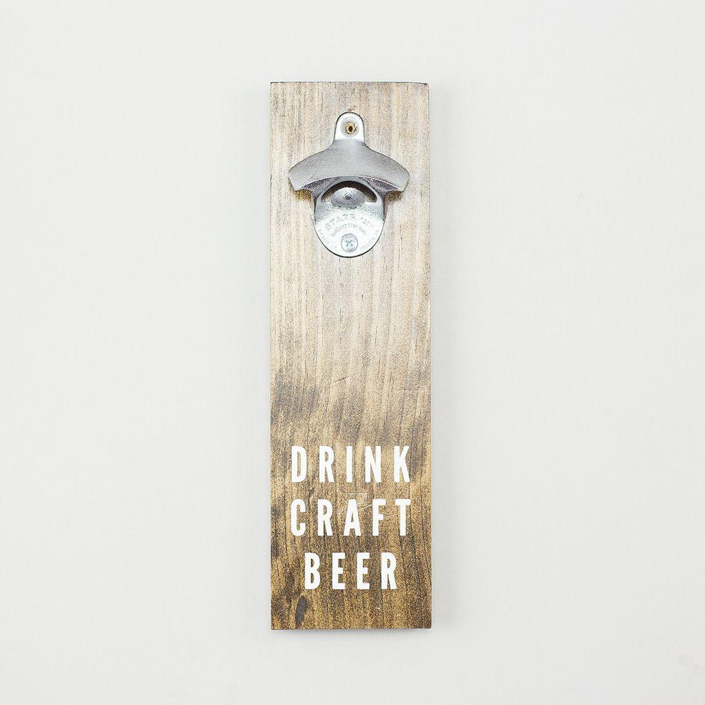 Shop Good: Handmade Craft Beer Bottle Opener - Dark Walnut