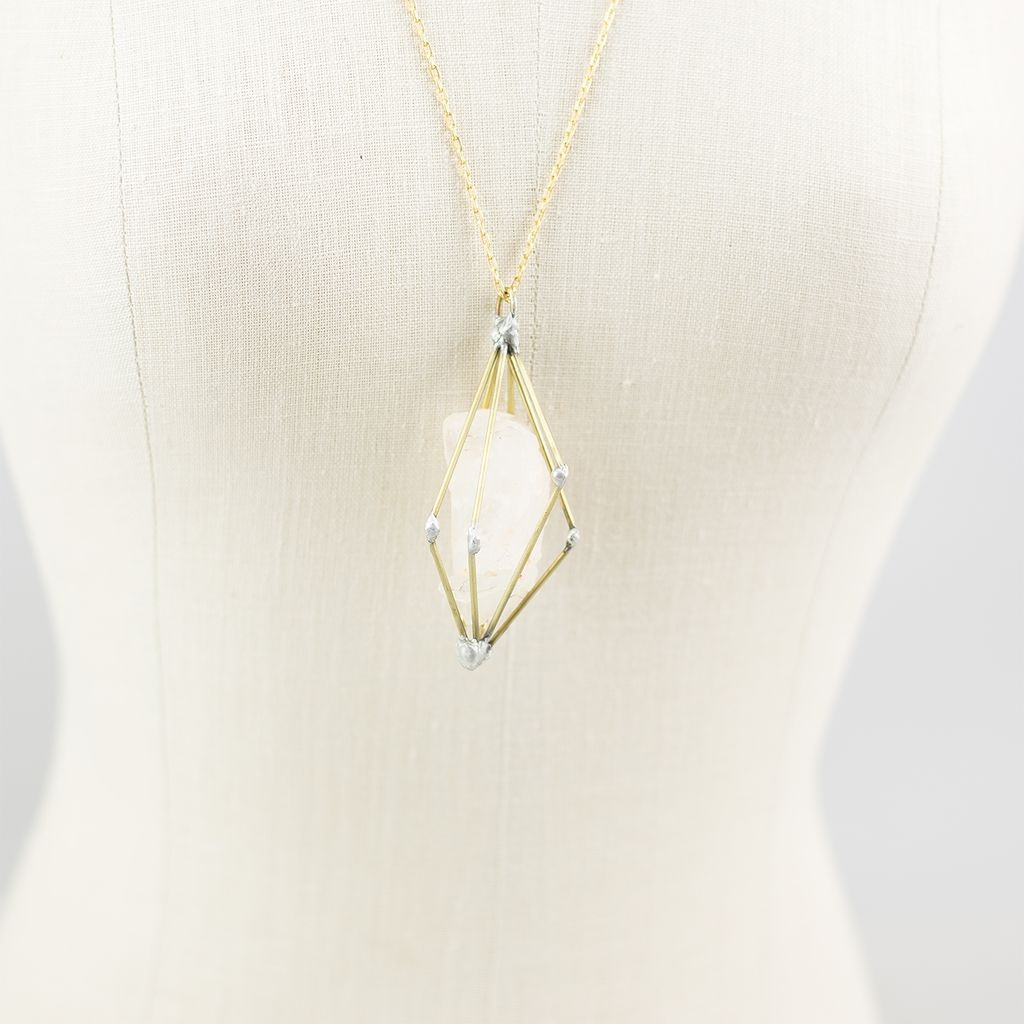 DNA Galleries Quartz Cage Necklace