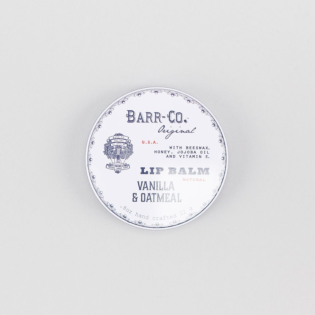 Barr-Co Lip Balm - Vanilla & Oatmeal