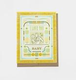 Hammerpress I Love You Baby Blank Greeting Card