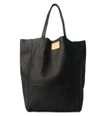 Sseko Designs Leather Bucket Bag - Black