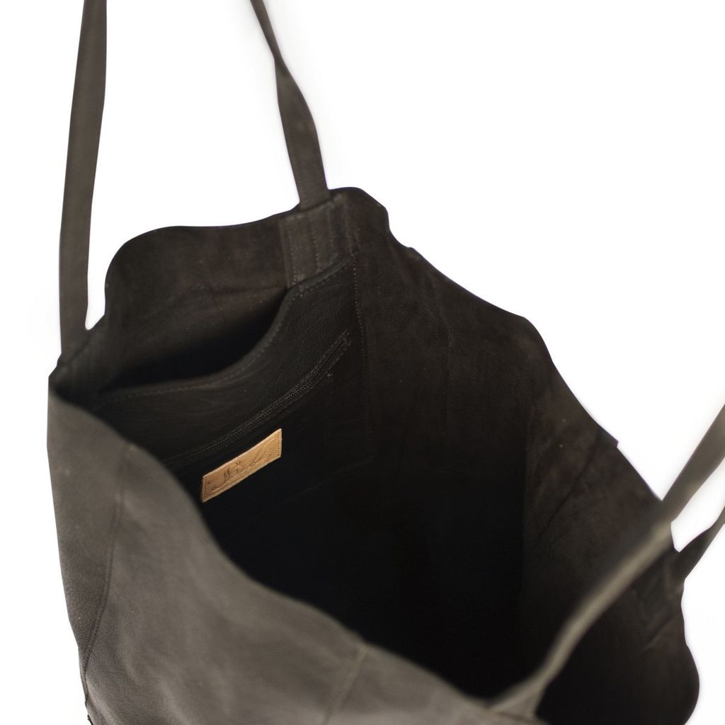Sseko Designs Leather Bucket Bag - Black