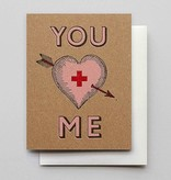 Hammerpress You + Me Blank Greeting Card