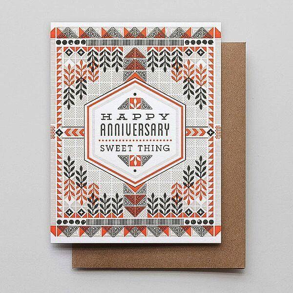 Hammerpress Anniversary Sweet Thing Blank Greeting Card