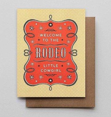 Hammerpress Rodeo Cowgirl Blank Greeting Card