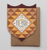Hammerpress Happy Birthday Sun & Arrow Blank Greeting Card