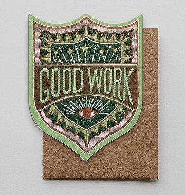 Hammerpress Good Work Badge Blank Greeting Card