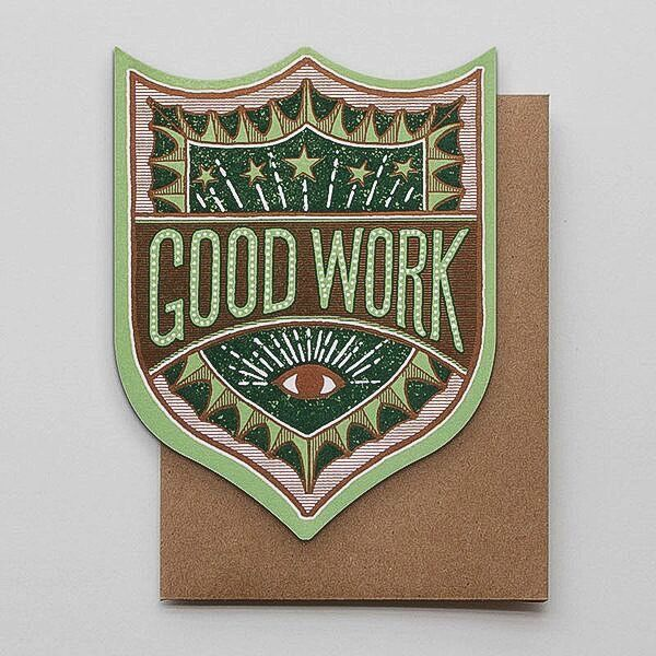Hammerpress Good Work Badge Blank Greeting Card