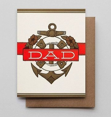 Hammerpress Dad Anchor & Banner Blank Greeting Card