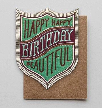Hammerpress Happy Birthday Beautiful Blank Greeting Card