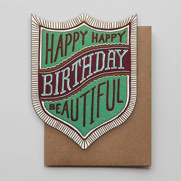 Hammerpress Happy Birthday Beautiful Blank Greeting Card