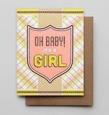Hammerpress Oh Baby! Girl Blank Greeting Card